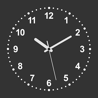 Relógio realista em forma de círculo 3d