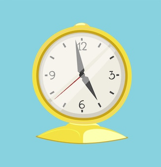 Relógio, relógio, alarme, ícone, ilustração