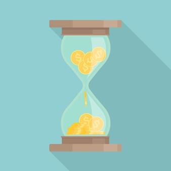 Relógio retro. ampulheta ou ampulheta vintage