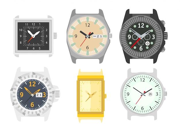 Relógios definido. acessório elegante para homens.