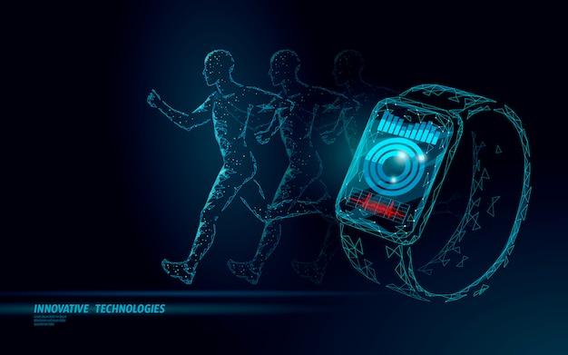 Relógios inteligentes rastreador de fitness dispositivo de cuidados de saúde. conceito de negócio de app de medicina. coração humano bater esporte monitor design moderno.