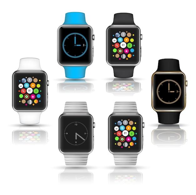 Relógios inteligentes wearable coleção computador nova tecnologia