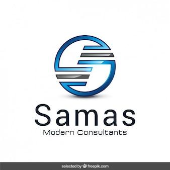 Reluzente logotipo abstrato circular