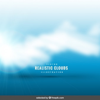 Reluzente nuvens realistas fundo