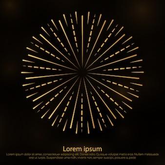 Reluzente . starburst, fogos de artifício.