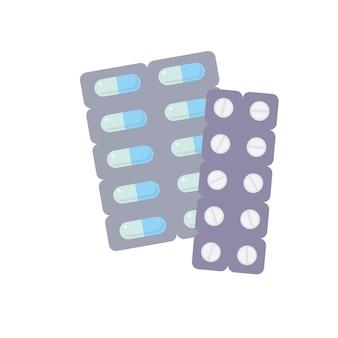 Remédio em comprimido e cápsula