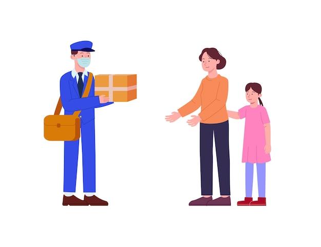 Remessa entregue pelo carteiro ao cliente