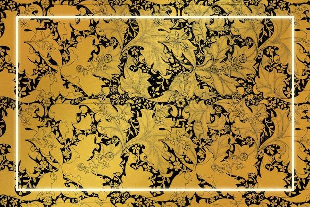 Remix de moldura floral luxuosa de obras de arte de william morris Vetor grátis