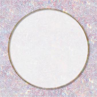 Remix de quadro holográfico de vetor vintage da arte de william morris