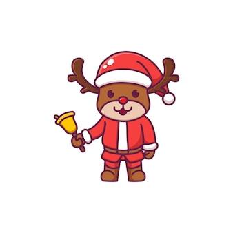 Rena fofa comemorando o natal