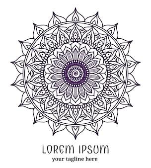 Renda redonda decorativa. círculo ornamentado, mandala de flor