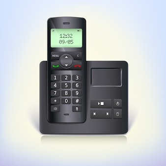 Renderização 3d de um telefone sem fio