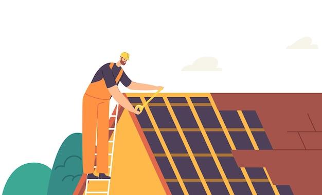 Renovação de edifício residencial roofer man