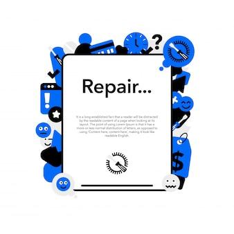Reparação de equipamentos móveis e banners de tablets