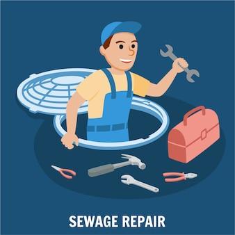 Reparação de esgotos