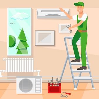Reparação design vector plana ilustração banner
