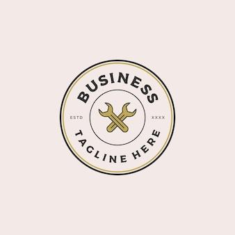 Reparação distintivo logotipo design ilustração