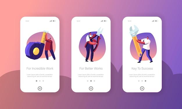 Reparar o conjunto de tela a bordo da página do aplicativo mobile