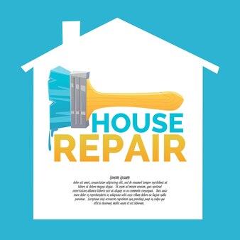 Reparo doméstico e banner de escova realista
