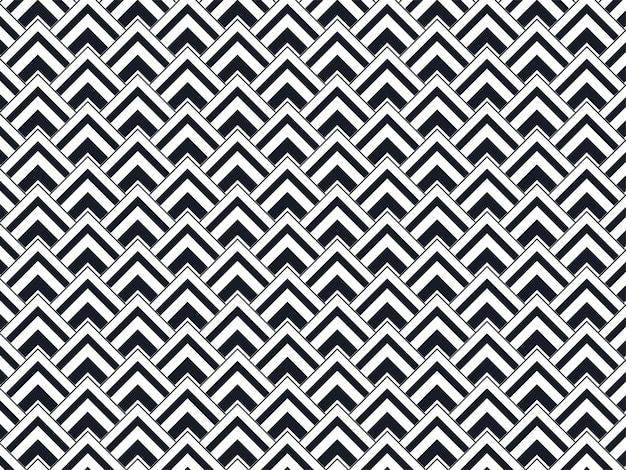 Repetindo o fundo do teste padrão do triângulo geométrico na cor preto e branco.