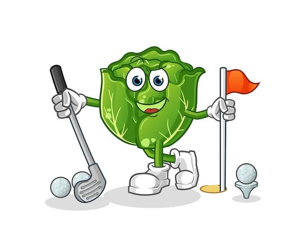 Repolho jogando golfe