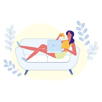 Repouso em casa, passatempo introvertido