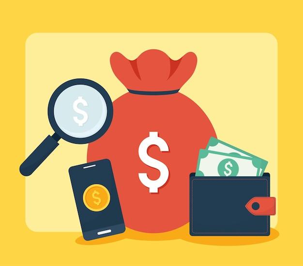 Representação de finanças pessoais