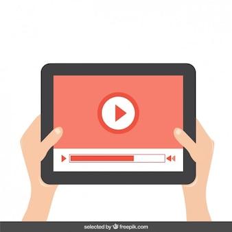 Reprodução de vídeo no tablet