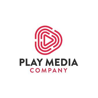 Reproduzir ilustração do logotipo de mídia