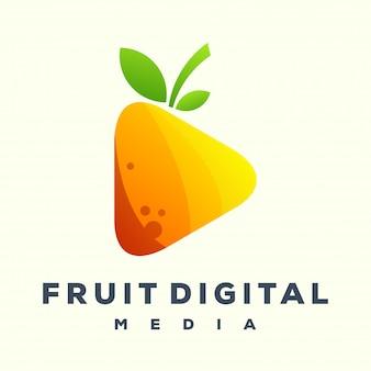 Reproduzir logotipo de mídia de frutas
