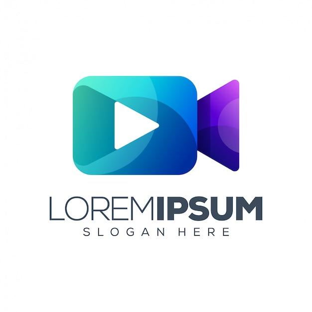 Reproduzir modelo de logotipo de mídia