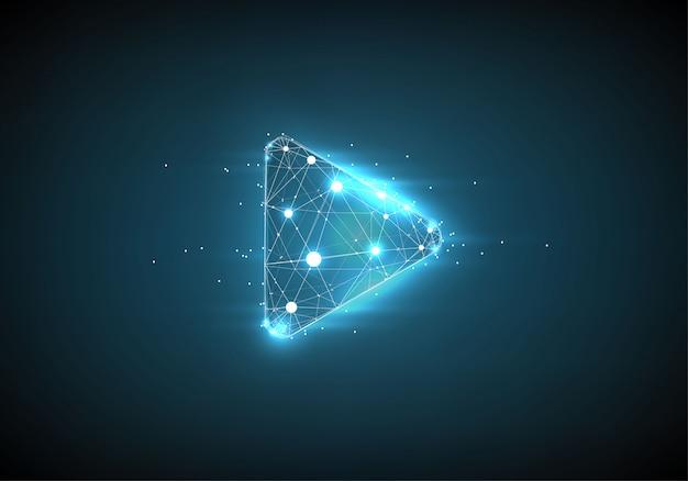Reproduzir vídeo. estrutura de arame baixa poli