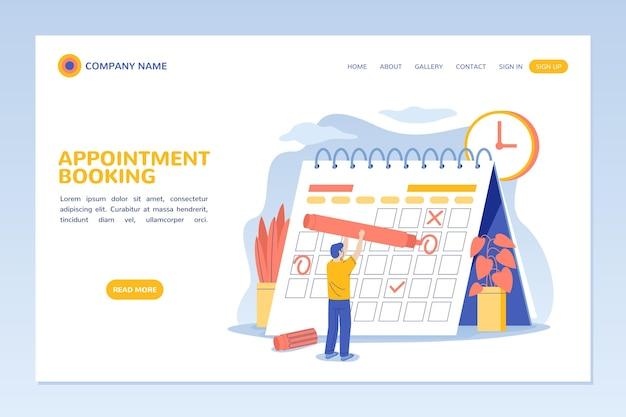 Reserva de compromissos - página de destino