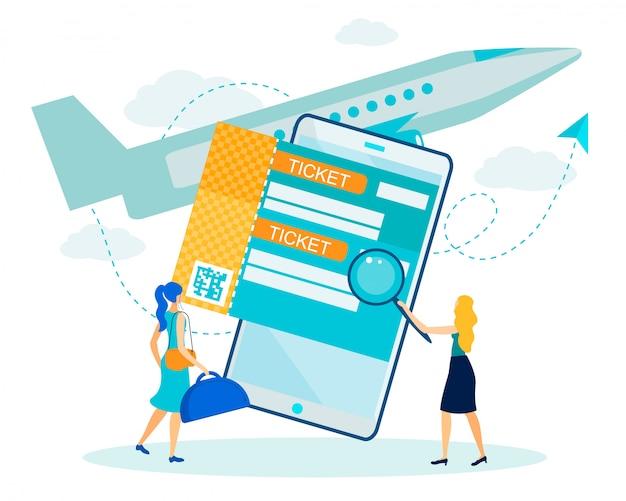Reserva on-line e pesquisa de serviço de voo