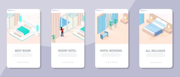 Reserva online best room resort hotet illustration