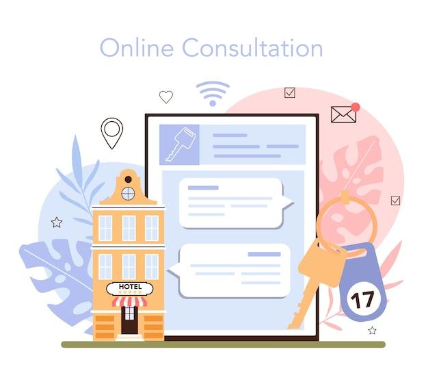 Reservar um serviço online de hotel ou apartamento de reserva de plataforma