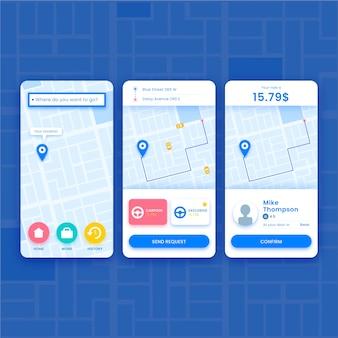 Reserve seu táxi no aplicativo móvel