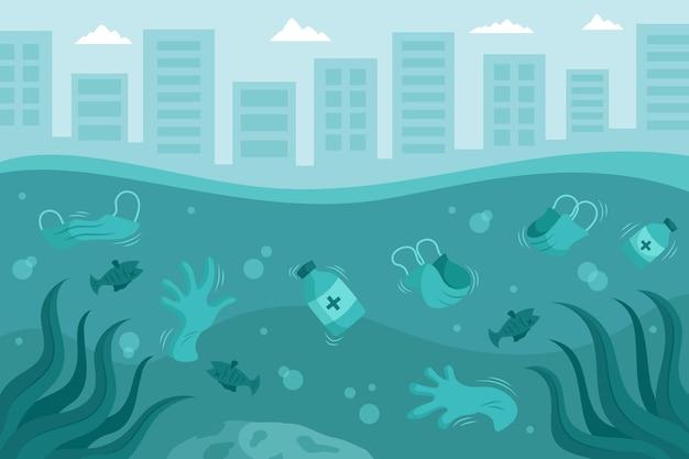 Resíduos de coronavírus ilustrados no fundo do oceano