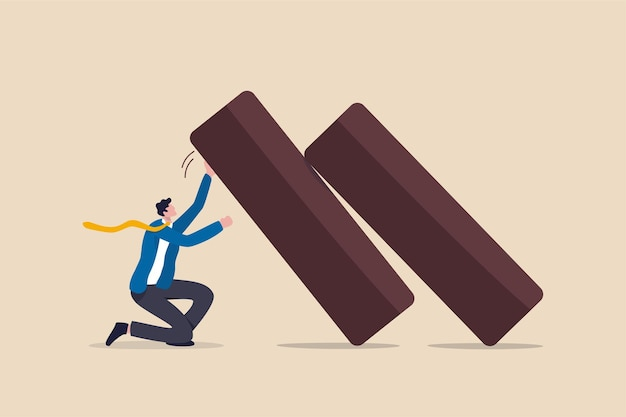 Resiliência de negócios, flexibilidade trabalhando para sobreviver e se conter na crise econômica