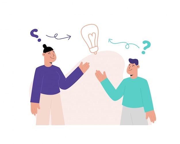 Resolva o problema de pensar a ilustração do conceito