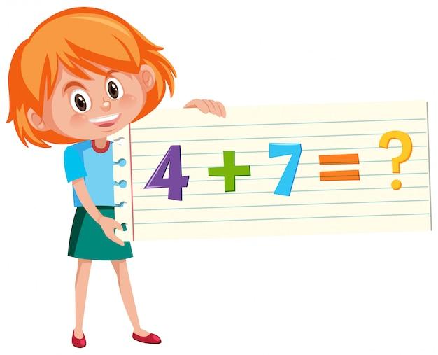 Resolver a questão de adição de matemática