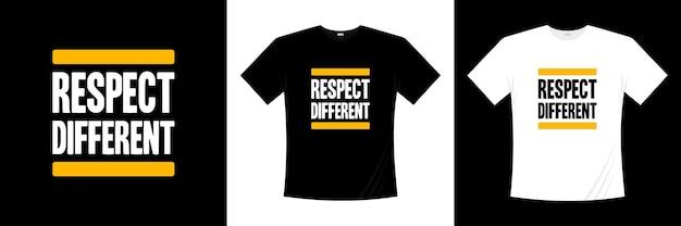 Respeite o design de t-shirt de tipografia diferente. dizer, frase, cita a camisa de t.