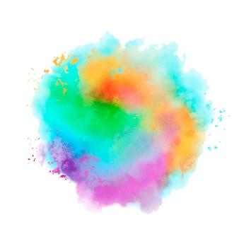 Respingo colorido em aquarela