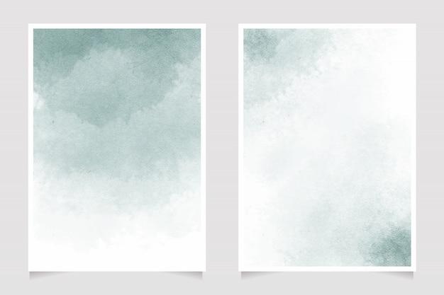 Respingo de água em aquarela verde pastel em papel 5x7 coleção modelo de cartão de convite