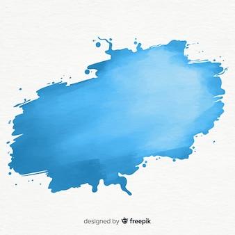 Respingo de aquarela azul