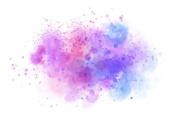 Respingo de aquarela colorida abstrata