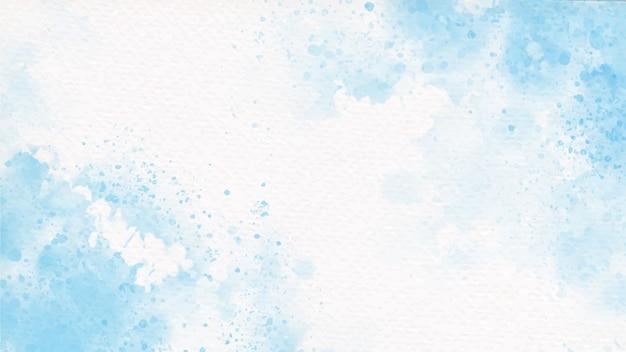 Respingo de aquarela colorida azul