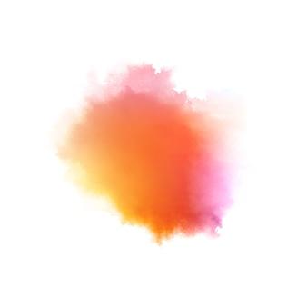 Respingo de aquarela colorida e elegante