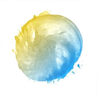 Respingo de aquarela colorida suave e abstrata