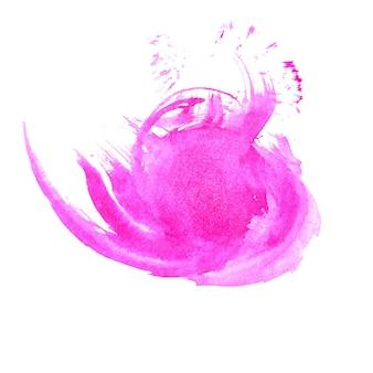 Respingo de aquarela rosa suave